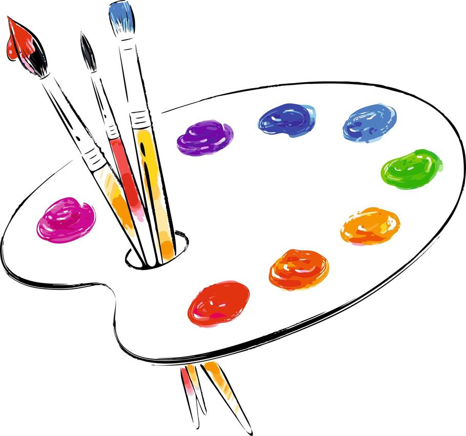 Картинки палитра с красками, привет